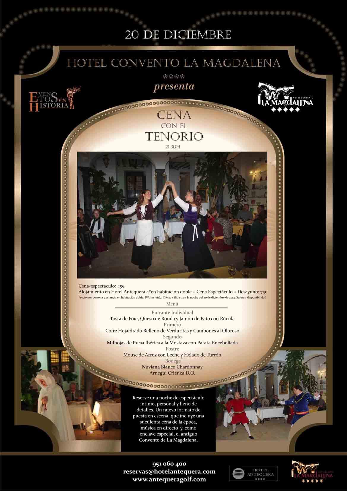Cartel cena con el Tenorio en la Magdalena (2)