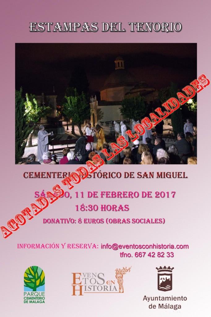 cartel ESTAMPAS DEL TENORIO febrero 2017 AGOTADAS