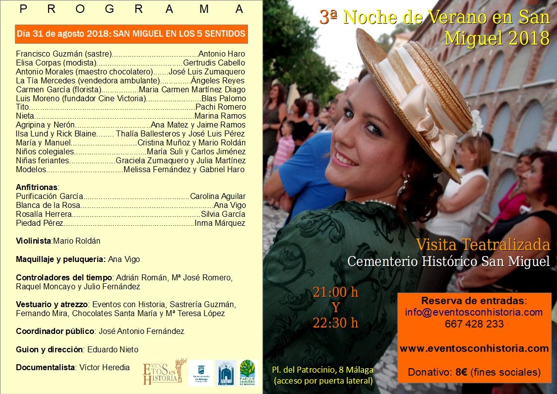 Cartel 31 de agosto San Miguel