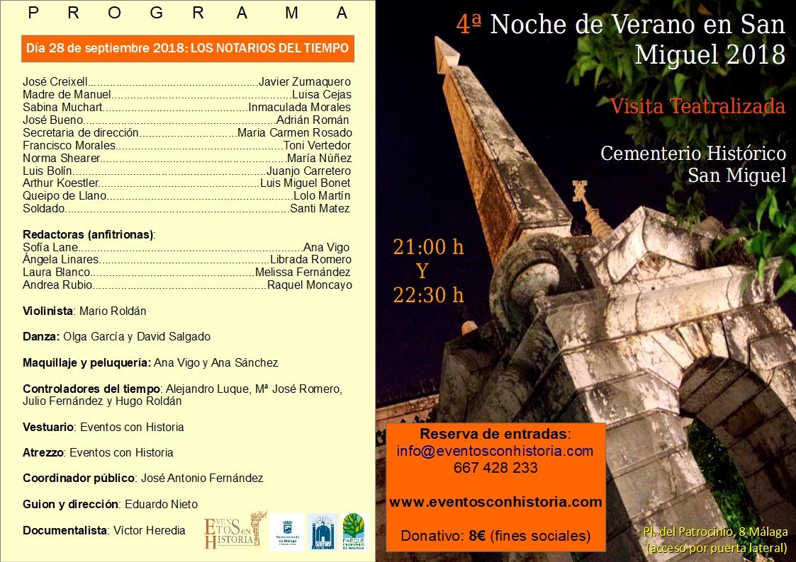 Cartel 28 de septiembre San Miguel