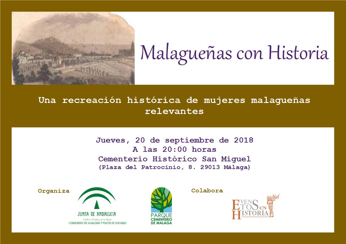 Invitación Malagueñas con Historia