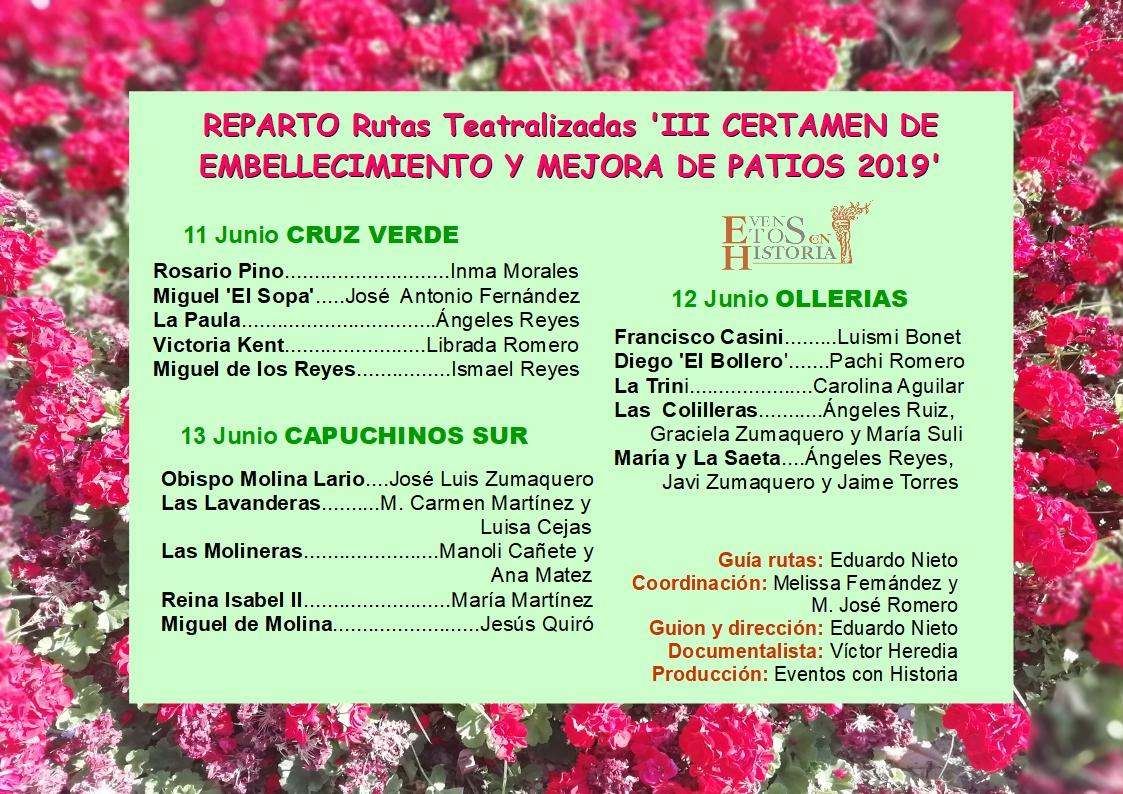 Reparto Corralones Visitas Teatralizadas 2019