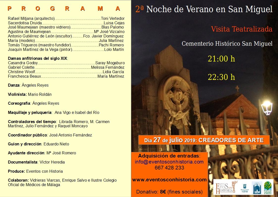 Programa 2ª Noche de Verano en San Miguel 2019
