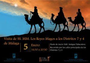 Visita de su SS.MM. los Reyes Magos a los Distritos 7 y 4 de Málaga